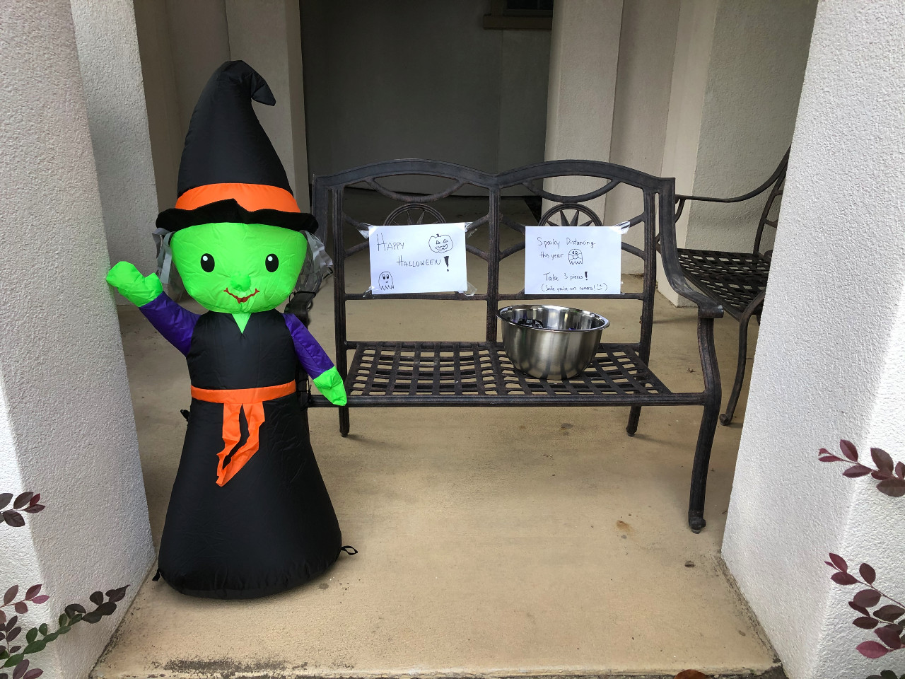 Our Halloween self-serve station