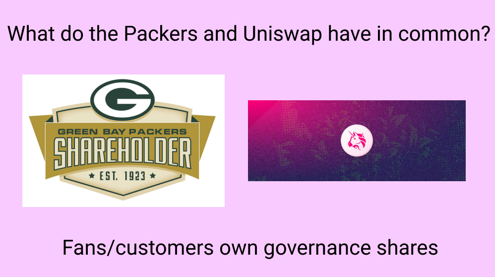 Uniswap and the Green Bay Packers