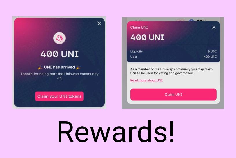 400 token Uniswap rewards
